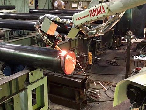 ガス開先ロボット(パイプ) 日酸TANAKA